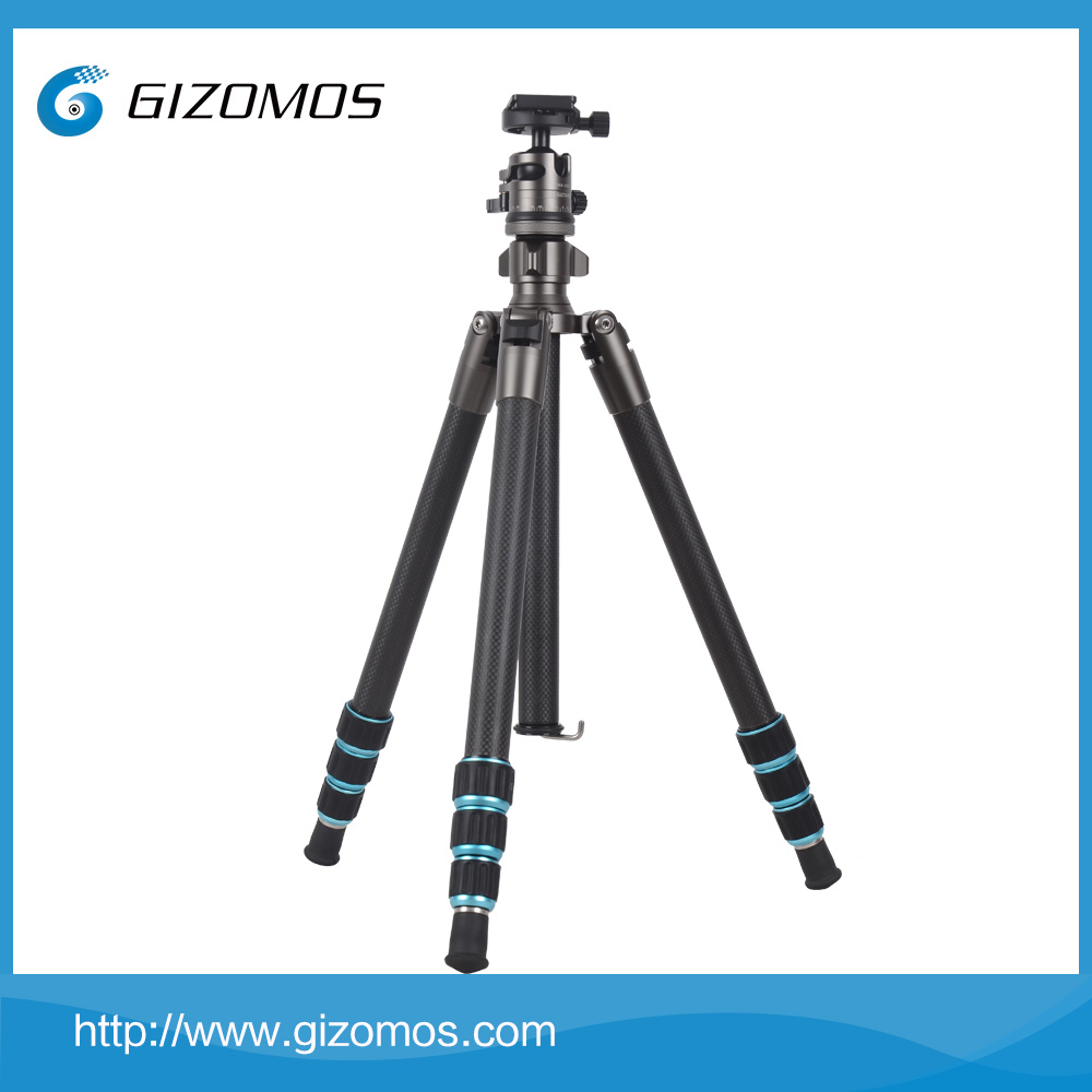 Gizomos quality granted camera tripod heavy duty with carbon fiber tripod legs and tripod ball head platform