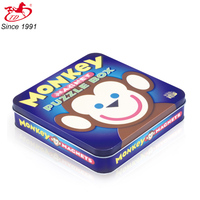pastry tinplate box , puzzle metal box