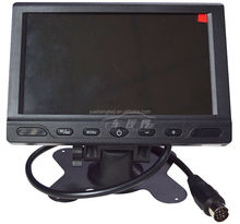 China 2014 new product Digital and analog screen Sun visor back seat 7 inch 4 channel quad TFT LED car monitor