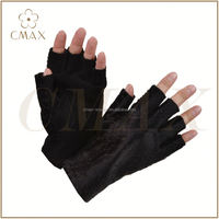 Padded palm protection leather gloves