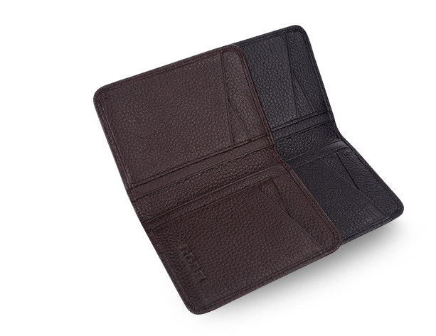 Special hand pocket business mens leather card holder