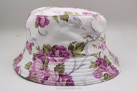 2016 Hot Selling Fashion Lady Floral Flowers Sublimation Summer Outdoor Bucket Hats for Women and Girls