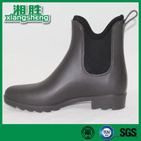 Pink Lining Martin Style Ankle Rain Boots for Women