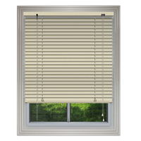 Best price 25mm PVC venetian blinds wood grain for living room