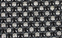 24rows black&white pearl crystal mesh fabric for bags R50224