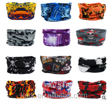 100% Polyester Multifunction Spring seamless Magic scarf riding scarf sunscreen dust bandana