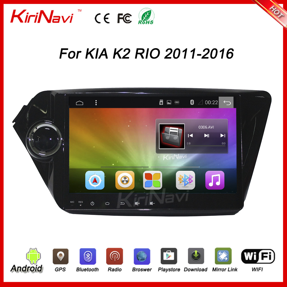 "KiriNavi WC-KK1012 Android 6.0 9"" car dvd player for kia rio navigation car radio 2011 - 2016 touch screen bluetooth wifi"