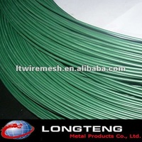 Search all Green PVC coated tie wire / PVC fence Wire for sale
