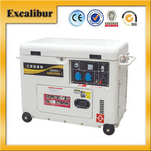 5kva S6500DS-4 10HP 186FAE powered single phase mini use diesel induction generator for Daily use