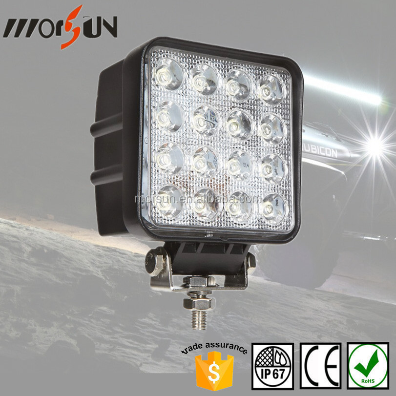 china manufacturer lighting light, car lights work ligh, 48w led