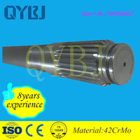 Jinan qiangyu tricycle axle oem service spline shaft ,stainless steel material differential axle