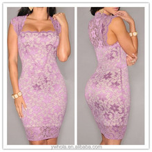 Ladies Lace Dresses 2016 Crochet Dress Sexy Bodycon Wrap Stright Dress