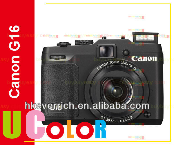 Genuine Canon PowerShot G16 12.1 MP 5X FHD WIFI DIGIC 6 Digital Camera - Black