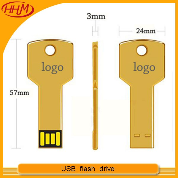 Company promotional Ad 4GB 8GB Metal key USB flash drive custom logo