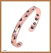 100% pure copper bracelet fashion bangle unsex wholesale top quality bangle with far infrared ray hot sale