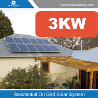 Hot sale 3kw solar system for home include 12v 100w solar panel also with on grid inverter