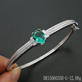 Silver Green Spinel Bracelet Single Design For Birthday Gifts DR1506035B-G