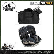 Arms Gear Stealth Black Range Hunting Tactical Hand Gun Handgun Revolver Case Bag Rag Holds 2 Pistols with 6 Interior Double