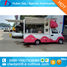 3 service windows food truck for sale with option fast food equipments