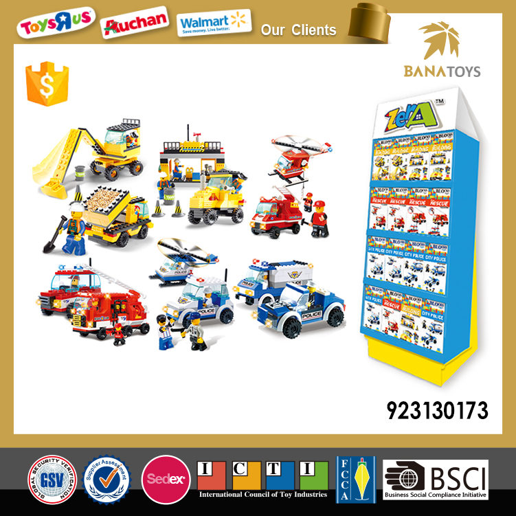 Police/fire control/construction mini toy blocks