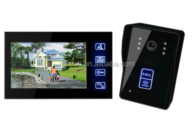 2014 new product 7 inch CMOS camera wireless interphone color video door phone home interphone system for vialla