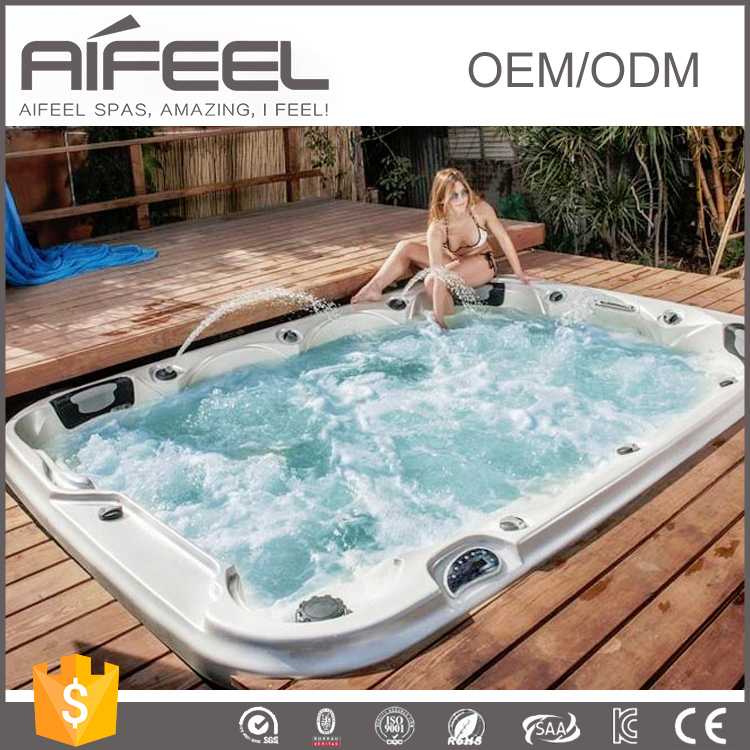 2017 new balboa control system hot tub freestanding acrylic 8 person outdoor sexy massage spa