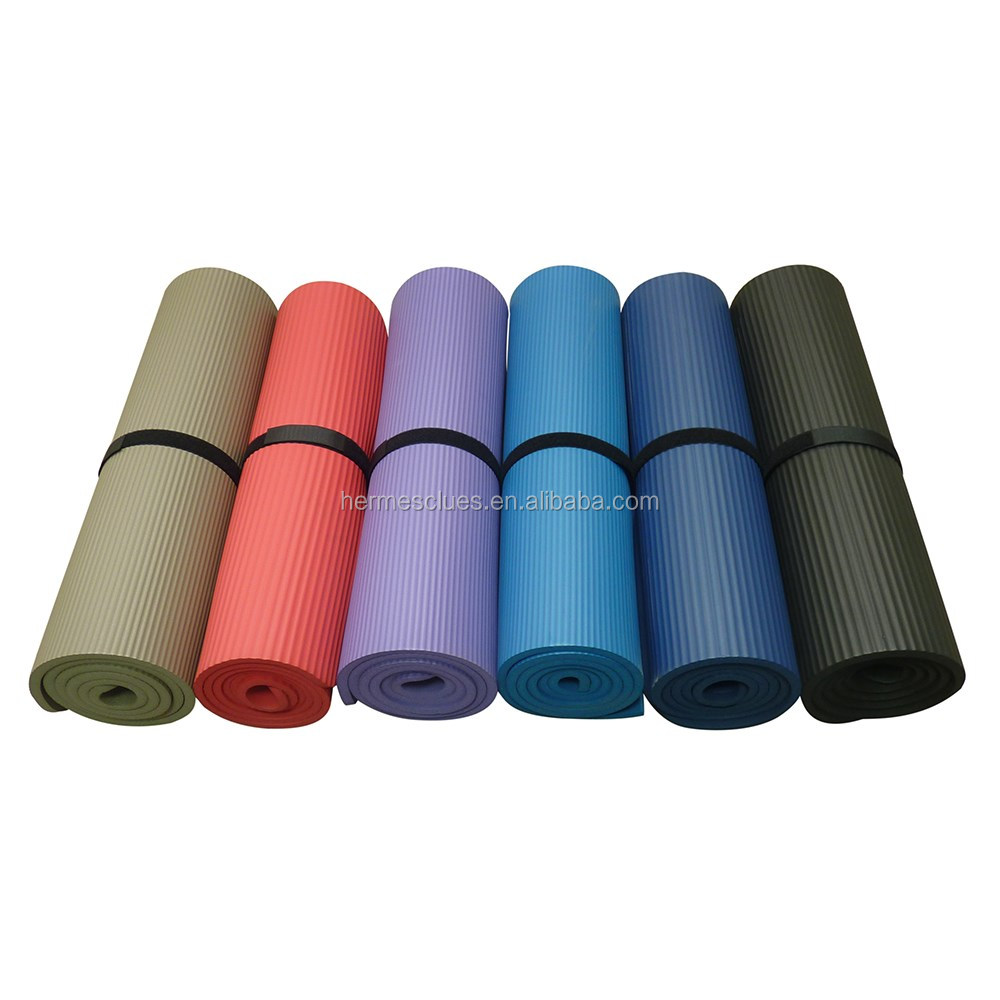 Wholesale durable indoor fitness exercise mats yoga rubber mat for sports