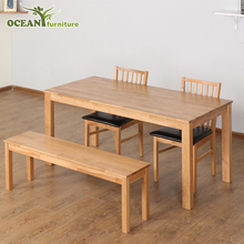 Custom modern furniture dining room table chairs oak wood dinning table set