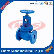 ductile cast iron ggg50 water seal rising stem gate valve dn100