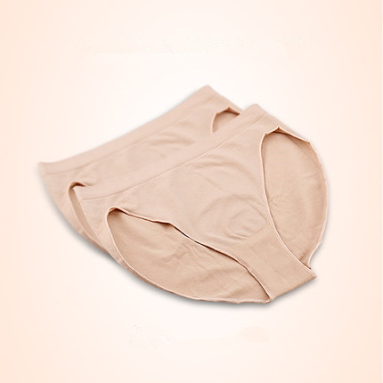 Professional Girl Cotton Ballet Dance Beige Mid Rise Briefs Waist Panty Women