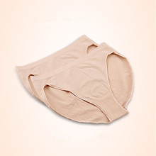 Professional Girl Cotton Ballet Dance Beige Mid Rise Briefs Waist Panty Women 5228