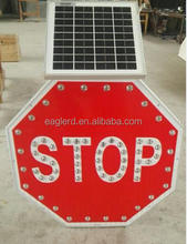 Solar led traffic signs warning sign