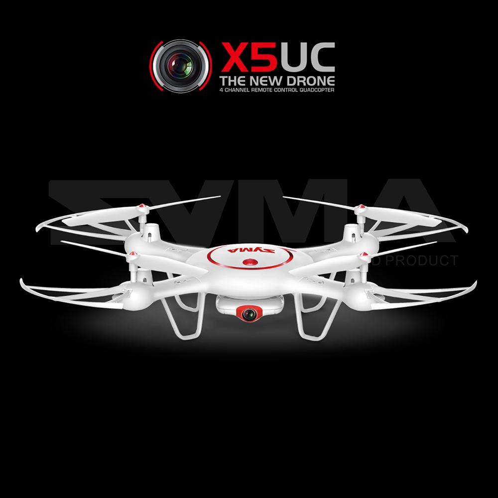X5UC Syma x5sw battery 720P WIFI FPV 2MP HD Camera Height Hold One Key Land 2.4G 4CH x5uw syma wifi 2016 fpv drone x5hw