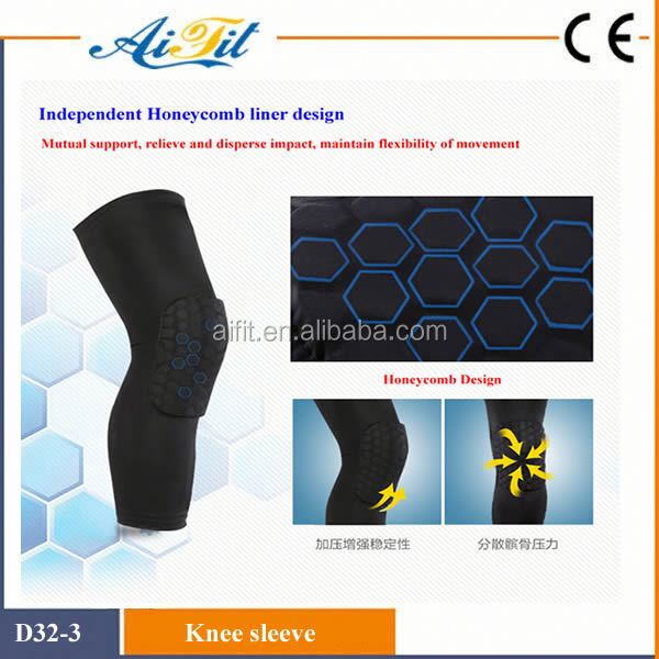 sports protecting neoprene ajustable thermal running knee pad