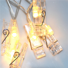 Fairy Creative Design led Battery Powered Photo Clip String Light For Home Decoration
