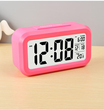 CE/FCC/ROHS Home Decoration Easy Viewing Large LCD Digital Desk Alarm Clock