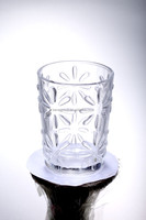 wholesale Fancy design glass candle cup