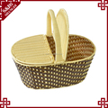 100% handcraft food storage cheap wicker hamper basket