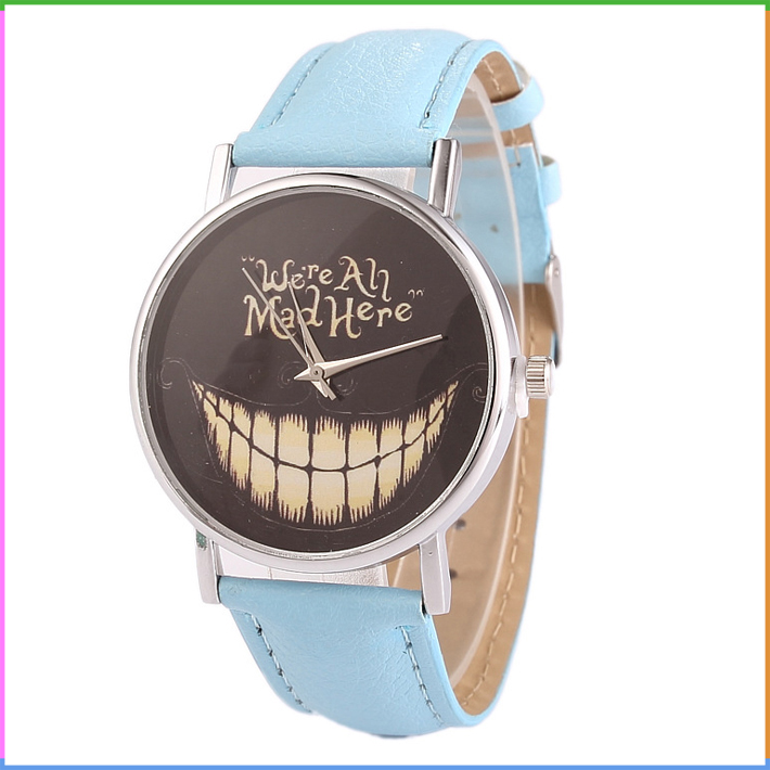 Cheap Yiwu Wholesale Fashion Emoji Wrist Watch with Letters Slogan Inside