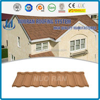 NUORAN discount monier villa metal sheet roof tile/colorful curved roof tile picture