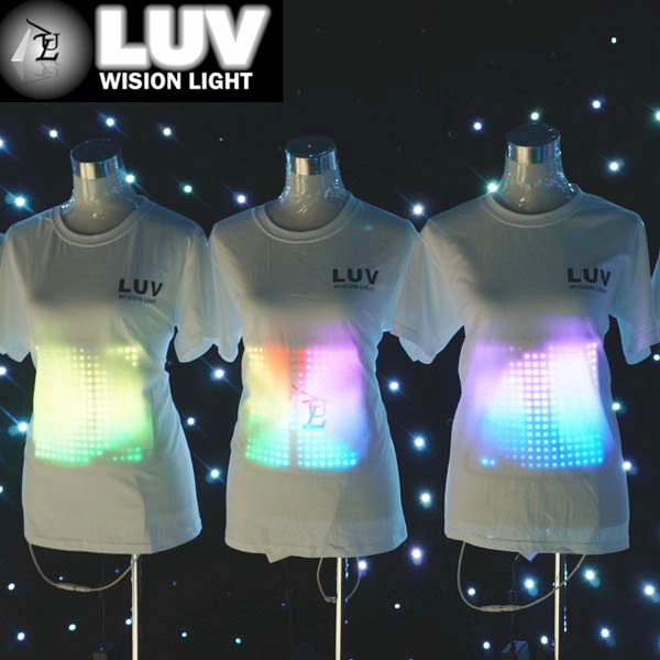 fashion attractive el t-shirt led equalizer t-shirt, el flashing tee shirts