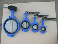 high quality wafer type butterfly valve lever/ gear operator(asme B16.5/B16.47)