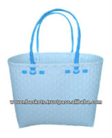 Cheap Woven Baskets Shopping weaving Bag(ATM-F3) with White or Colorful made from Plastic Straps Polypropylene pp