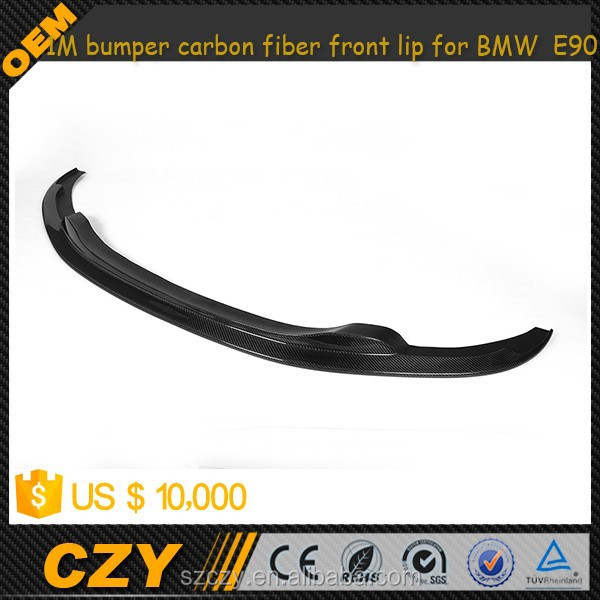 E90 1M bumper carbon fiber front lip for BMW E90