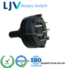 Dongguan LJV 17mm RoHS Low Cost 1 Pole 4 Position Selector Rotary Switch Manufactures