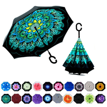 New products double layer windproof mini parapluie payung reverse folding umbrella