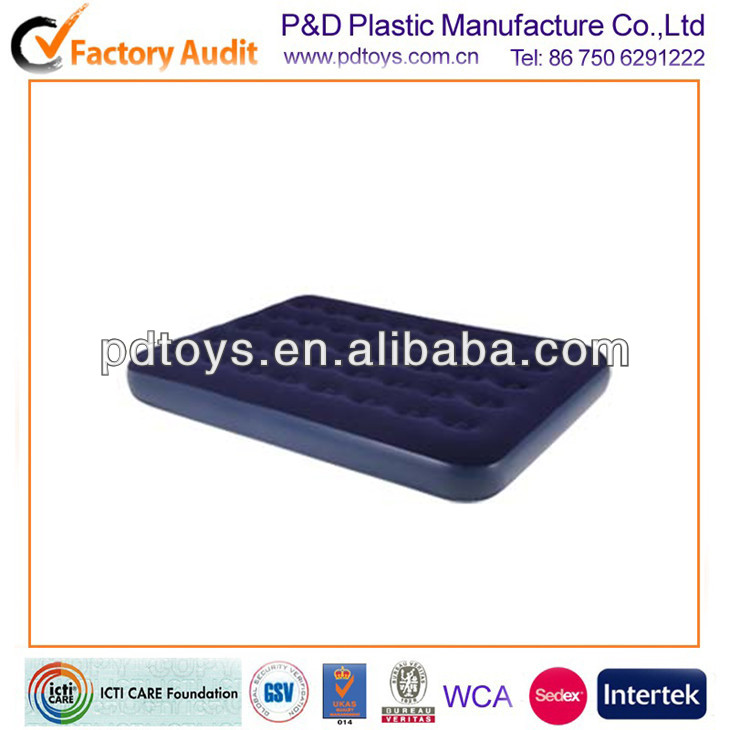 double inflatable flocked PVC air bed mattress