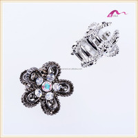 Fashion Crystal Flower Hair Claw Clips Accessories