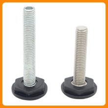 Metal thread adjustable furniture feet,Furniture leveler foot