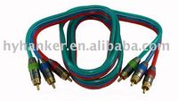 high grade 3 rca terminal component audio and video cable